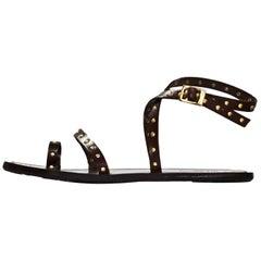 Jimmy Choo Brown Studded Sandals Sz 35