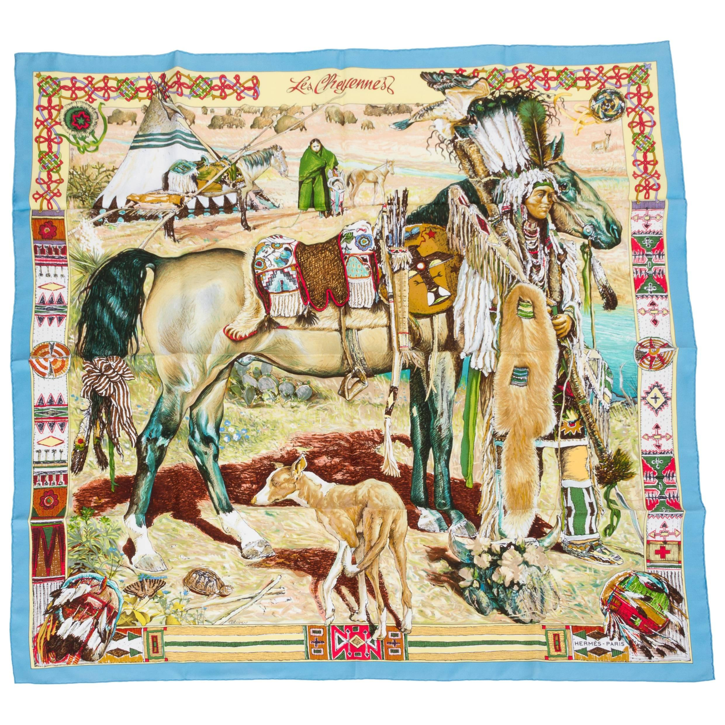 Hermes Les Ameriques Silk Scarf, Box