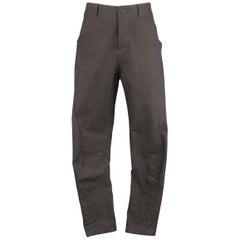 Men's THE VIRIDI-ANNE Size 32 Charcoal Cotton Denim Slanted Seam Pants
