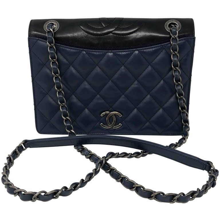 63134c1789da4d 2015 Ballerine Chanel Flap Bag For Sale. Blue quilted ...