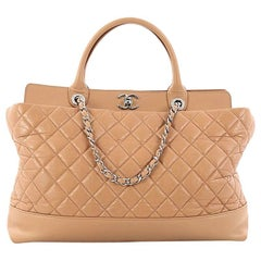 Chanel Be CC Tote Quilted Aged Calfskin Large