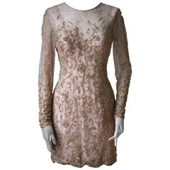 Ralph and Russo Haute Couture Austrian Crystal Embellish Short Dress