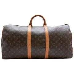 LOUIS VUITTON Keepall 55 Bag In Brown Monogram Canvas