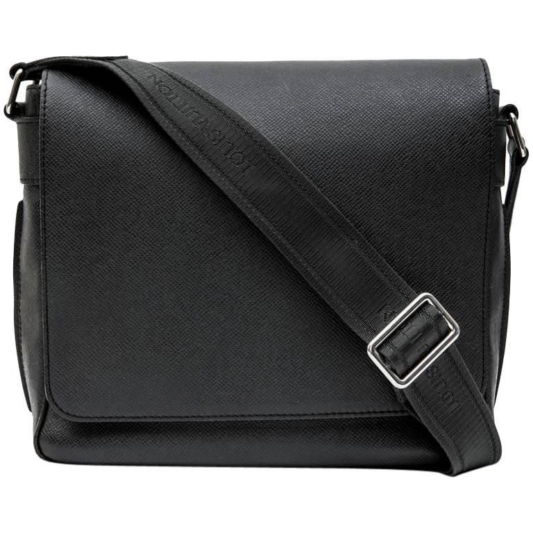 LOUIS VUITTON 'Roman' Flap Bag in Slate Color Taiga Leather