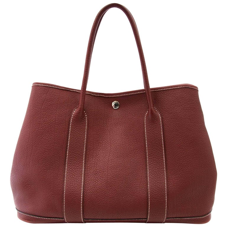Hermès Garden Party 36 Bordeaux tote bag