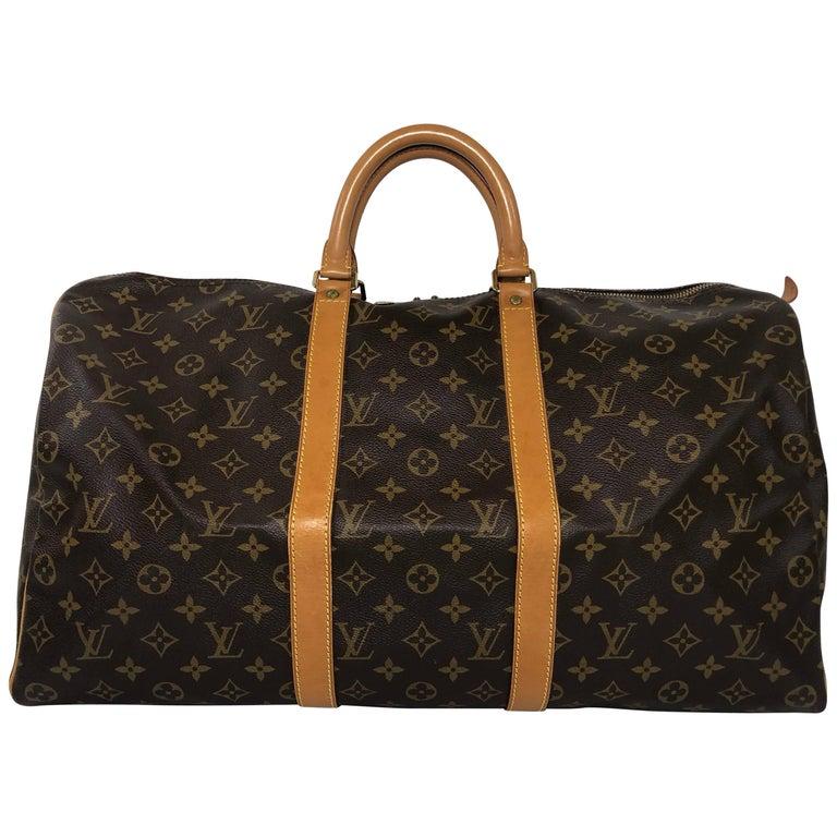 Louis Vuitton Monogram Keepall 50 Travel Bag For Sale