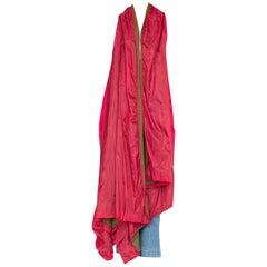 Ann Demeulemeester Red  Asymmetrical Waterfall Vest
