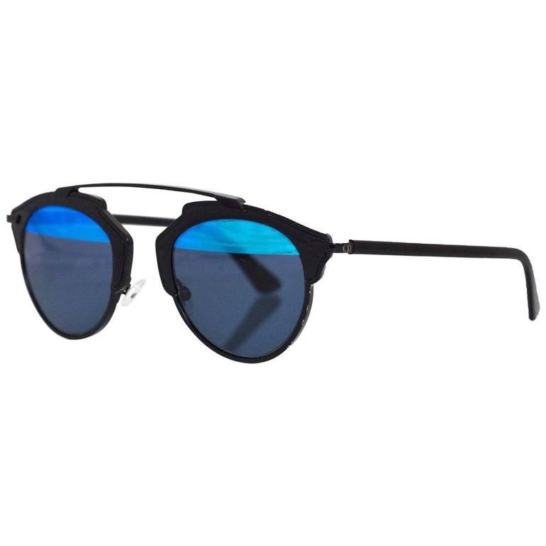f6d7e7ae628 Christian Dior Black and Blue So Real Sunglasses with Case For Sale ...