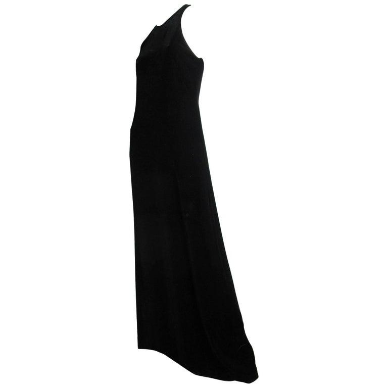 1990s Nicole Miller Velvet Gown