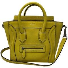 Yellow Celine Nano Crossbody Bag