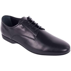 Versace Collection Black Leather Lace Up Derby Shoes