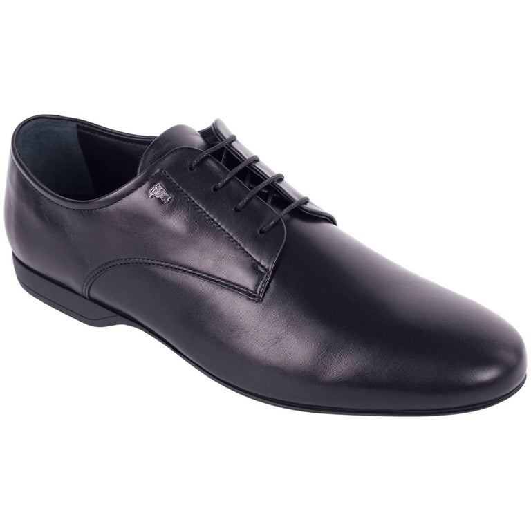 2042218ad9 Versace Collection Black Leather Lace Up Derby Shoes For Sale at 1stdibs
