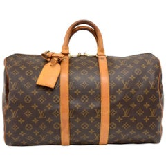 Louis Vuitton Vintage Keepall 45 Monogram Canvas Duffel Travel Bag