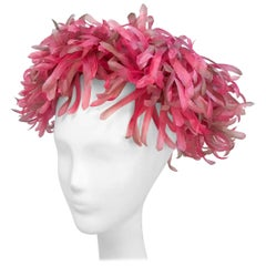 Pink Flower and Foliage Hat, 1960s