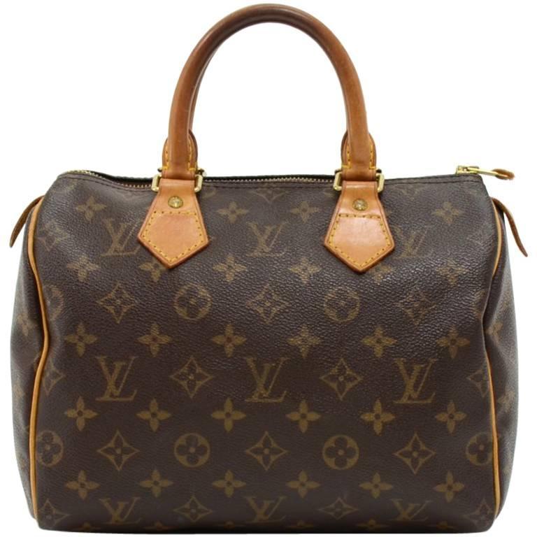 Louis Vuitton Speedy 25 Monogram Canvas City Hand Bag