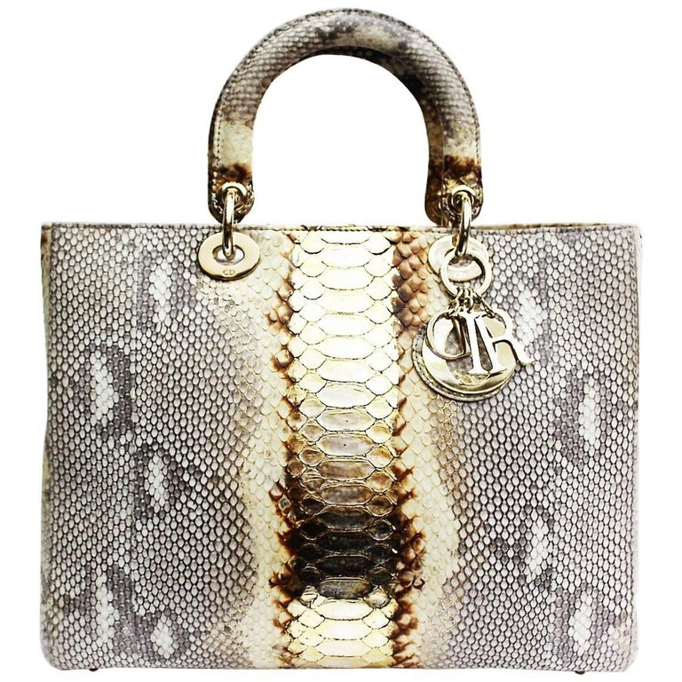 Christian Dior Lady Dior Large Python Bag at 1stdibs 2bc56f2b6bbc5