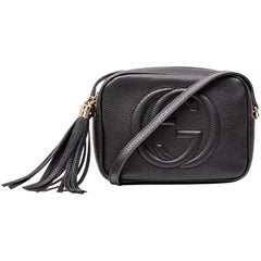 GUCCI Soho Disco Bag in Black Grained Calf Leather