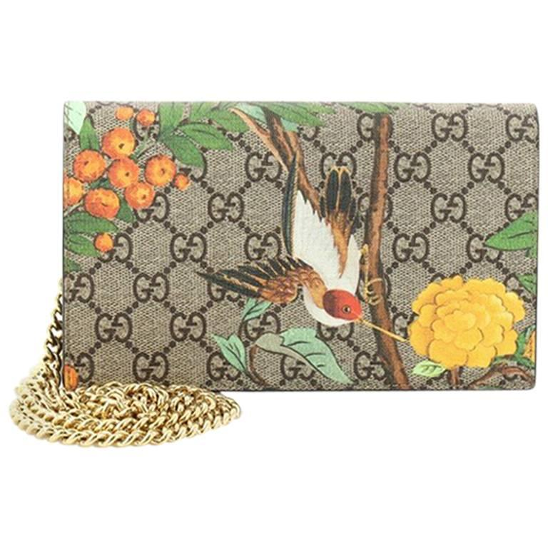 Printed Coated-canvas And Textured-leather Wallet - Beige Gucci FPcaZrnuZ
