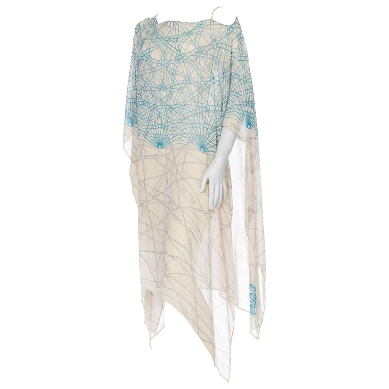 Silk Chiffon Kaftan WIth Chain Detail