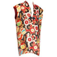 Morphew Collection Metallic Japanese Rayon & Silk Brocade Lurex Embroidered Obi