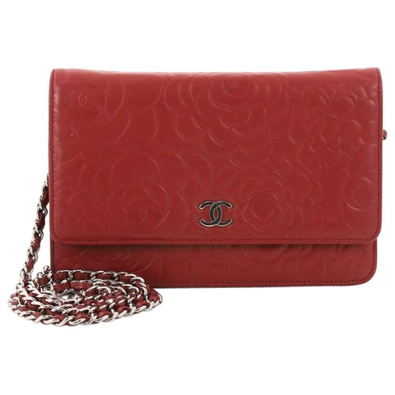 Chanel Wallet on Chain Camellia Lambskin  For Sale