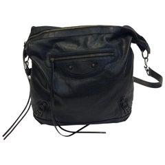 Balenciaga Black Leather Shoulder Bag