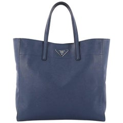 Prada Convertible Soft Shopping Tote Saffiano Leather Medium
