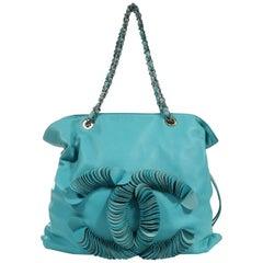 Chanel Turquoise Lambskin Bon Bon Tote Bag