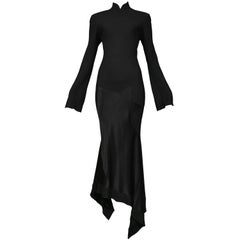 JOHN GALLIANO  Black Star Panal Gown 1994-95