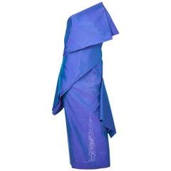 Shamask One Shoulder Dress, 1980s