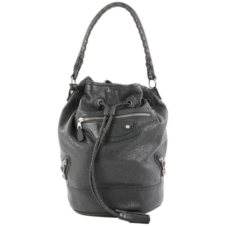 Balenciaga Carly Giant Studs Handbag Leather
