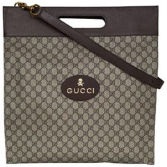 Gucci Soft GG Supreme XL Tote Bag with Dust Bag and Shopping Bag, Spring 2017