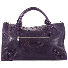 Balenciaga Work Covered Giant Brogues Handbag Leather