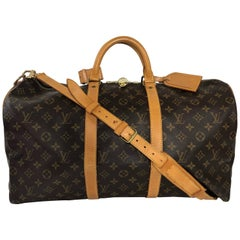Louis Vuitton Monogram Keepall Bandoliere 50 Bag