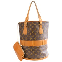 Louis Vuitton by The French Co Monogram Bucket Bag Tote and Coin Purse, 1970s