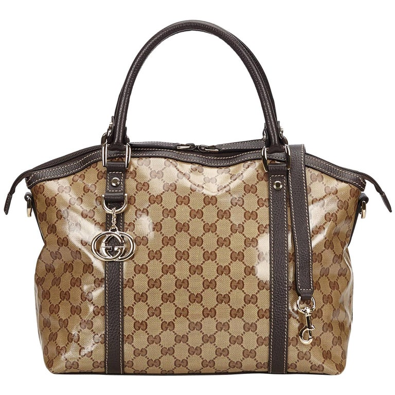 Gucci Brown Crystal Duchessa Handbag