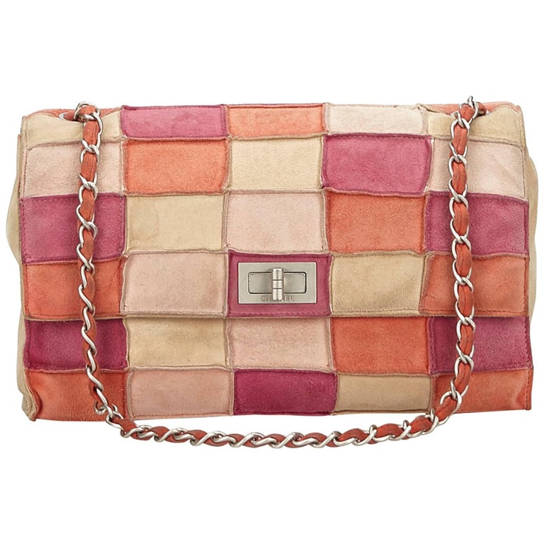 08807b9eab4f Chanel Pink x Multi Reissue Patchwork Flap Bag For Sale at 1stdibs