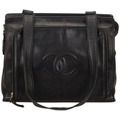 Chanel Black CC Lambskin Leather Bag