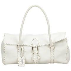 Fendi White Linda Handbag