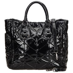 Prada Black Patent Leather Tote Bag
