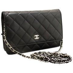 Chanel Wallet On Chain WOC Black Crossbody Lambskin Shoulder Bag