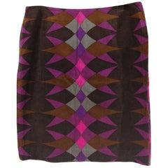 Emilio Pucci multicoloured Velvet Skirt
