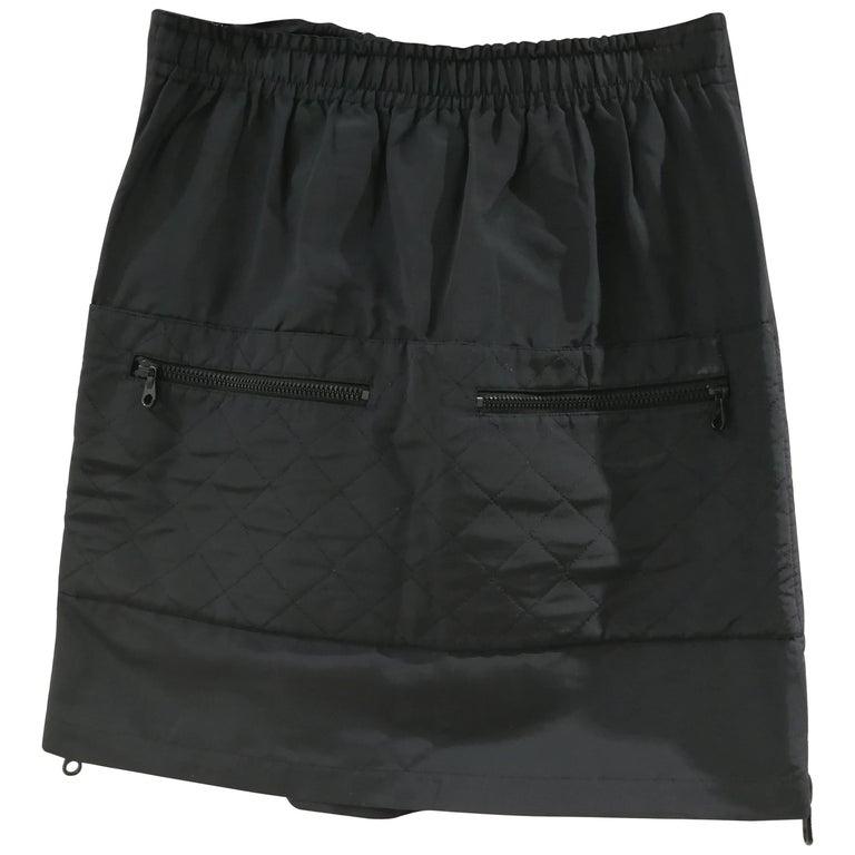 Chanel Boutique Black CC Skirt