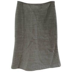 Moschino Grey Wool Skirt