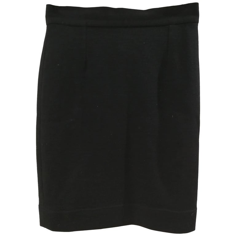 Moschino Black Wool Skirt For Sale