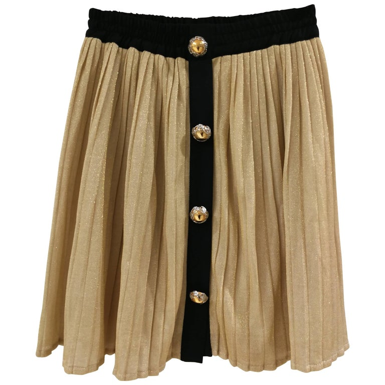 Gold Black Vintage Skirt
