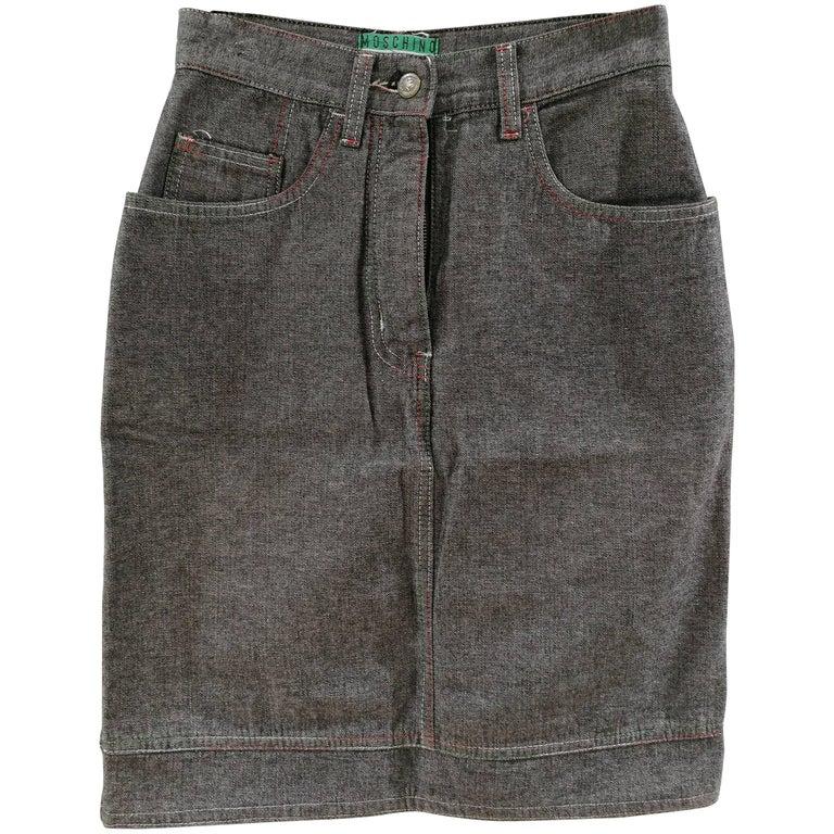 Moschino Jeans Grey Skirt