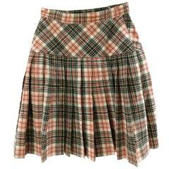 Fendi Wool Tartan Skirt