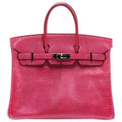 Hermès Fuchsia Lizard Birkin 25 Bag