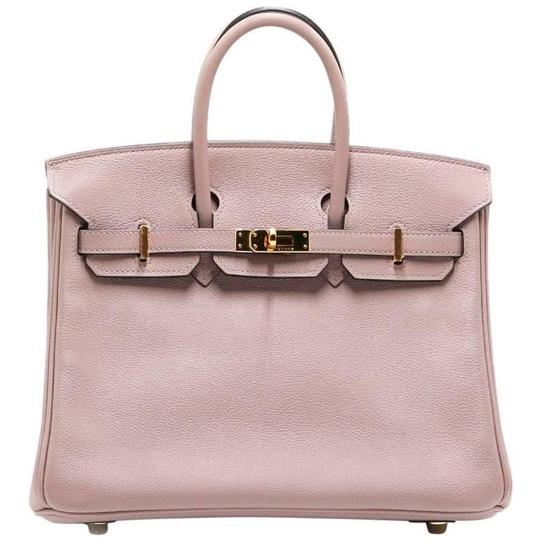 Hermès Pink Glycine Birkin 25 Bag